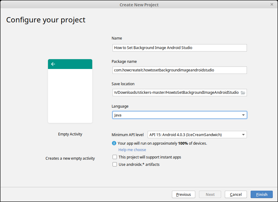 How To Set Background Image Android Studio How Create It